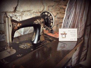 Sewing machine in our lobby from Silk Museum